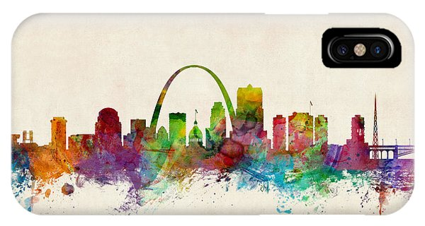 United States iPhone Case - St Louis Missouri Skyline by Michael Tompsett