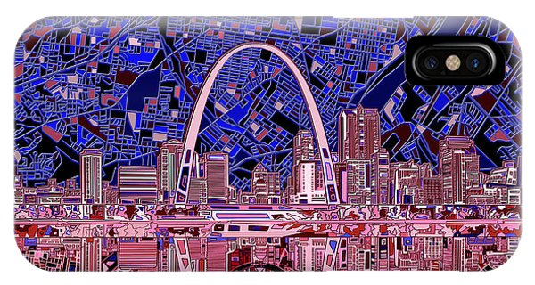 St Louis Skyline Abstract 6 IPhone Case