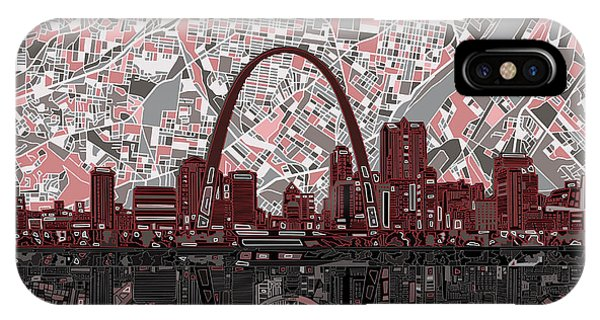 St Louis Skyline Abstract 7 IPhone Case