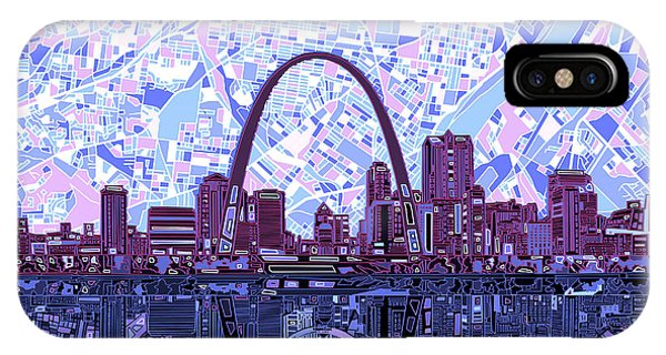 St Louis Skyline Abstract 8 IPhone Case