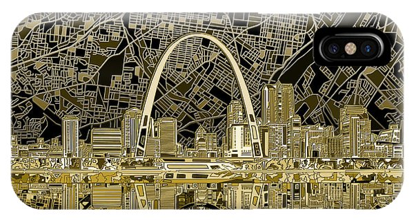 St Louis Skyline Abstract IPhone Case