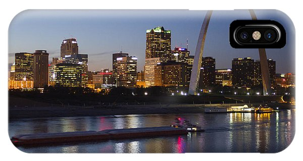 St Louis Skyline With Barges IPhone Case