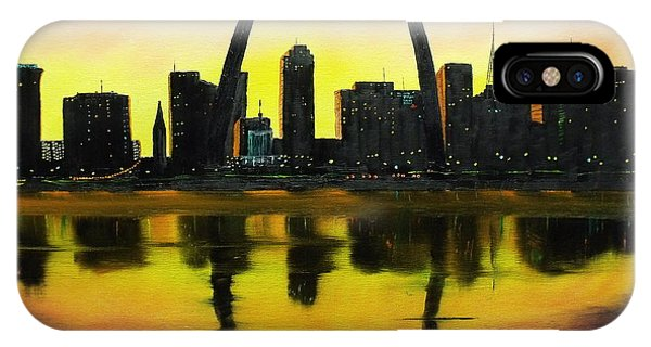 Gateway Arch iPhone Case - St. Louis Sunset by Don Bowling