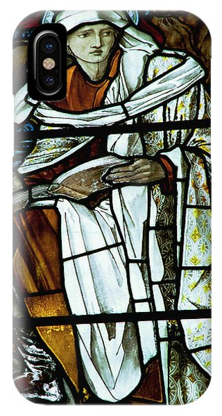 Pre-modern iPhone Case - St Luke In Stained Glass by Philip Ralley