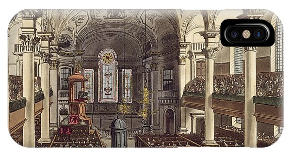 Baroque iPhone Case - St Martins In The Fields by T. & Pugin, A.C. Rowlandson