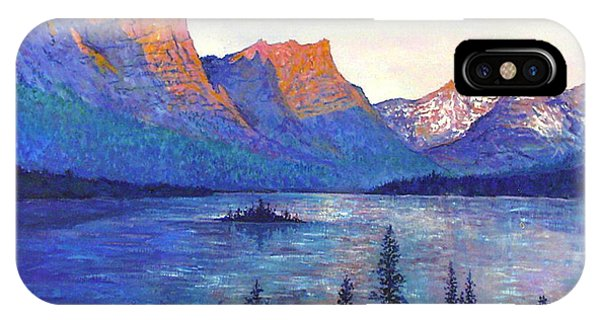 St. Mary's Lake Montana IPhone Case