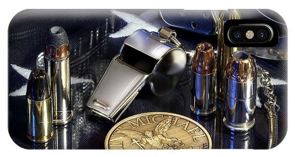 Michael iPhone Case - St Michael Law Enforcement by Gary Yost