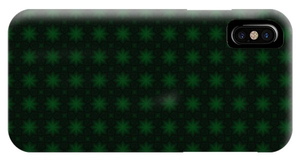 St. Patricks Day iPhone Case - St. Patricks Green Starburst Abstract Pattern by Shelley Neff