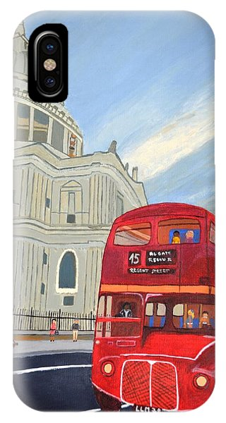 St. Paul Cathedral And London Bus IPhone Case