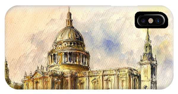 St Paul Cathedral Phone Case by Juan  Bosco