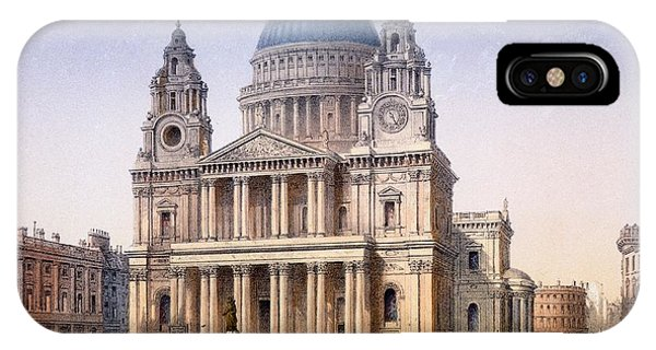 Baroque iPhone Case - St Pauls Cathedral by Achille-Louis Martinet