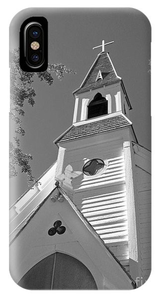 St. Paul's Church Port Townsend In B W IPhone Case