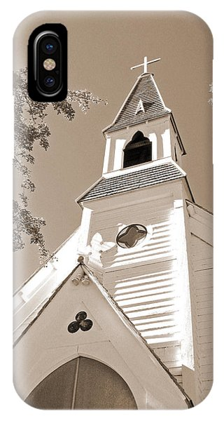 St. Paul's Church Port Townsend In Sepia IPhone Case