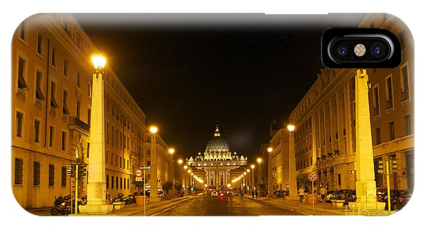 Well Being iPhone Case - St. Peter's Basilica. Via Della Conziliazione. Rome by Bernard Jaubert