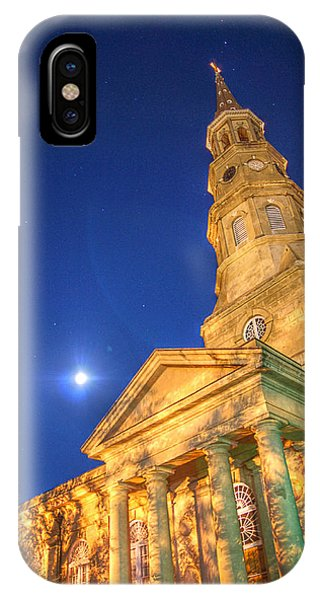 St. Phillip's At Night With Moon And Stars IPhone Case