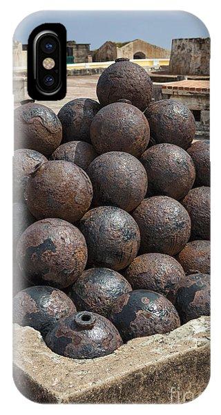 Stack Of Cannon Balls At Castillo San Felipe Del Morro IPhone Case