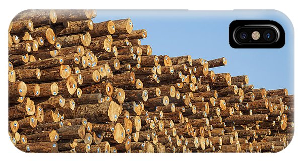 IPhone Case featuring the photograph Stacks Of Logs by Bryan Mullennix