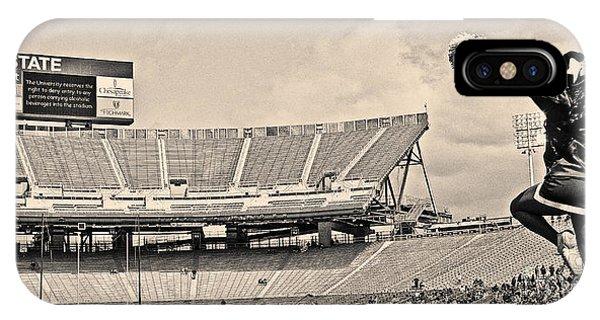 Stadium Cheer Black And White IPhone Case