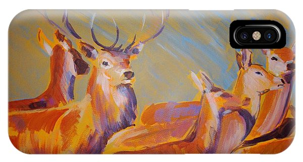 Stag And Deer Painting IPhone Case