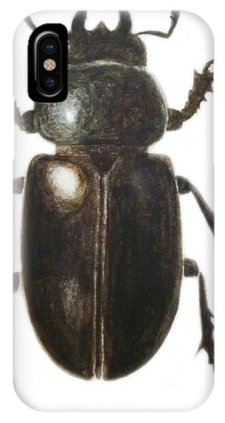 Insect iPhone Case - Stag Beetle by Ele Grafton