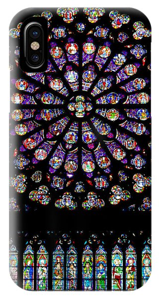 Stained Glass At Notre Dame IPhone Case
