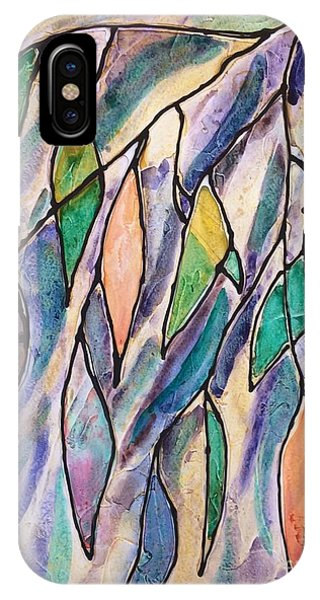 Stained Glass Leaves #2 IPhone Case