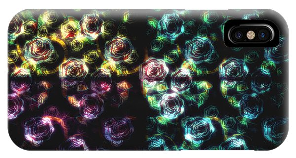 Stained Glass Roses IPhone Case
