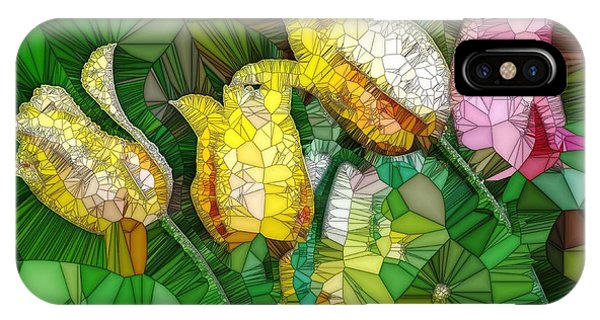 Stained Glass Series - Tulips IPhone Case