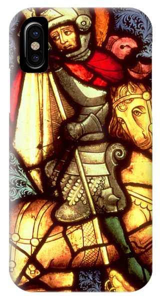 Serpent iPhone Case - Stained Glass Window Depicting Saint George by German School