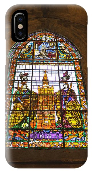 Stained Glass Window In Seville Cathedral IPhone Case