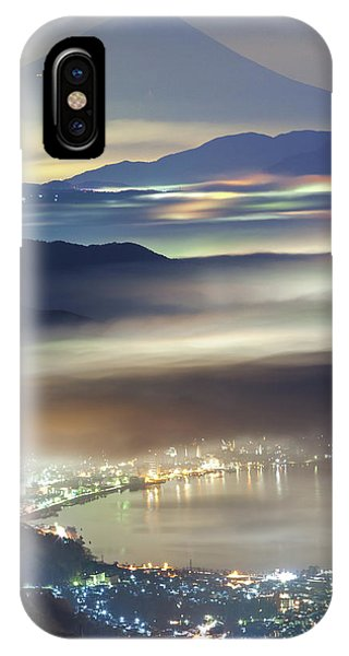 Night iPhone Case - Staining Sea Of Clouds by Hisashi Kitahara