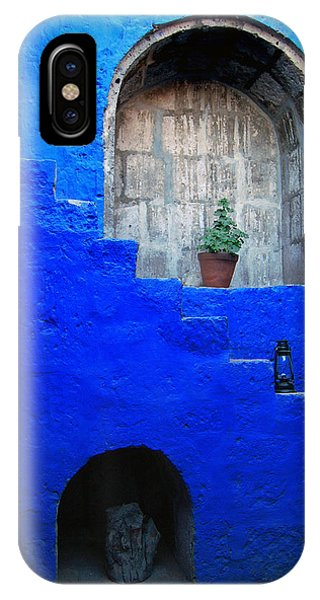 Staircase In Blue Courtyard IPhone Case