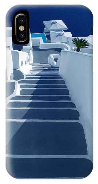IPhone Case featuring the photograph Stairs Down To Ocean Santorini by Colette V Hera  Guggenheim