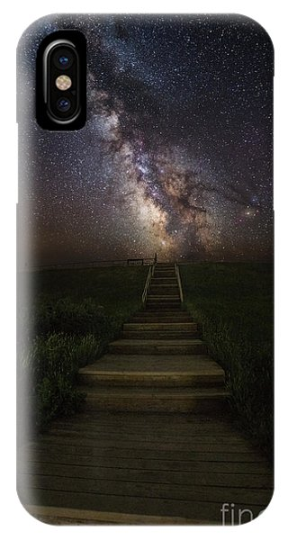 Stairway To The Galaxy IPhone Case