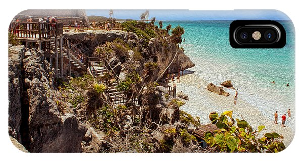 Stairway To The Tulum Beach  IPhone Case