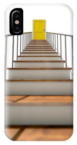 Achievement iPhone Case - Stairway To Yellow Door by Allan Swart