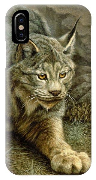 Lynx iPhone Case - Stalking Lynx by Paul Krapf
