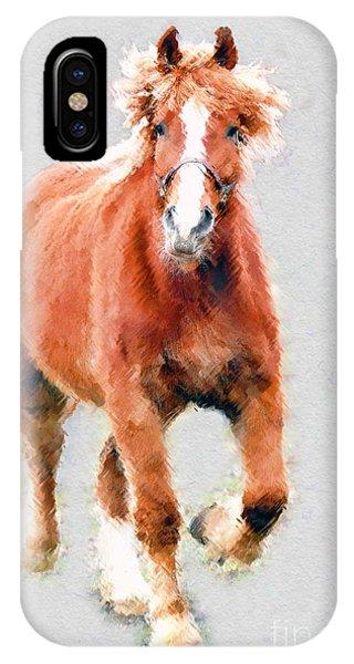 Stallion Portrait Phone Case by Dan Friend