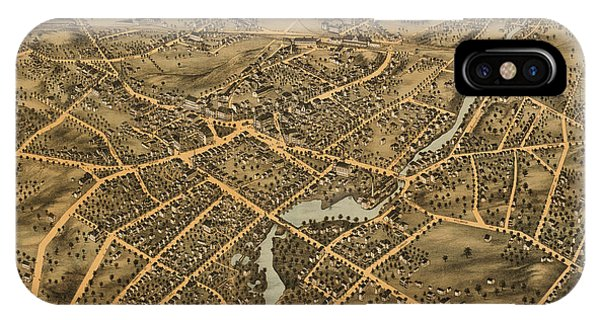 Stamford iPhone Case - Stamford Connecticut 1875 by Andrew Fare