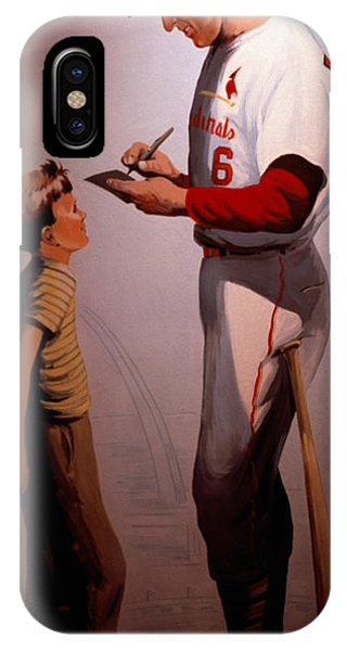 Baseball Hall Of Fame iPhone Case - Stan Musial Mural by Tracy Knauer