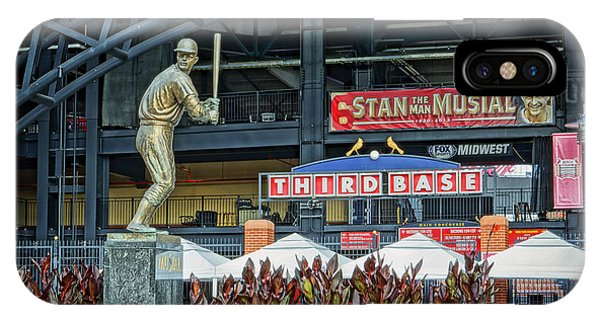 Stan Musial Statue At Busch Stadium St Louis Mo IPhone Case