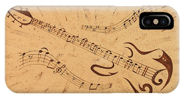 Stand By Me Guitar Notes Original Coffee Painting IPhone Case
