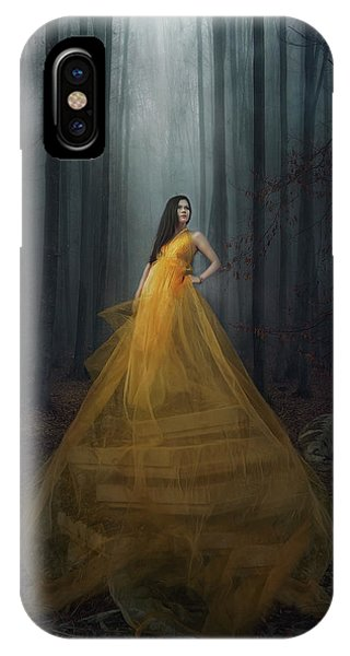 Yellow iPhone Case - Stand Here by Afiez Appleproject