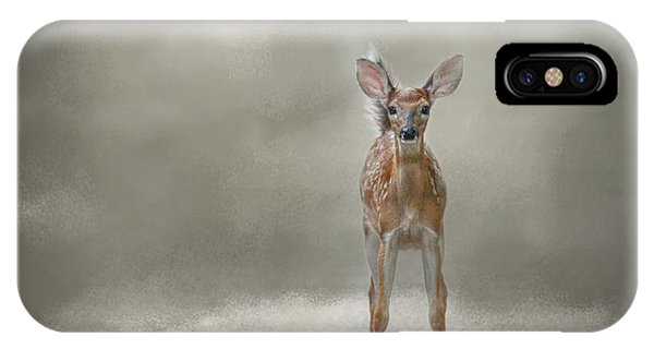 White Tailed Deer iPhone Case - Stand Strong Little Fawn - Deer - Wildlife by Jai Johnson