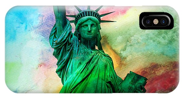 Statue Of Liberty iPhone Case - Stand Up For Your Dreams by Az Jackson