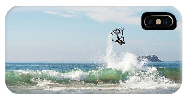 Jet Ski iPhone X Case - Stand Up Jet Ski Backflip Nac Nac by Marcos Ferro