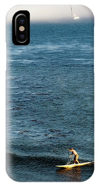 Barbara Steele iPhone Case - Stand-up Paddling At Sunset In Santa by Kevin Steele