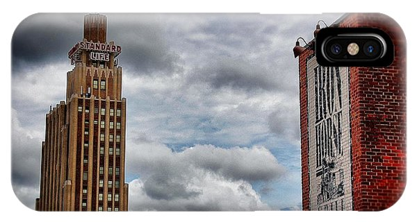 Standard Life And Iron Horse Buildings IPhone Case
