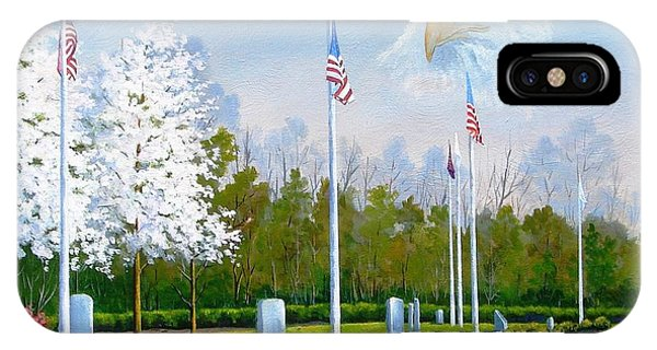 Standing Guard Over Veterans Park IPhone Case