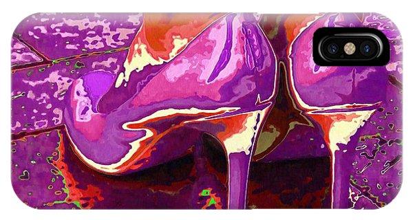 Standing In The Purple Rain IPhone Case